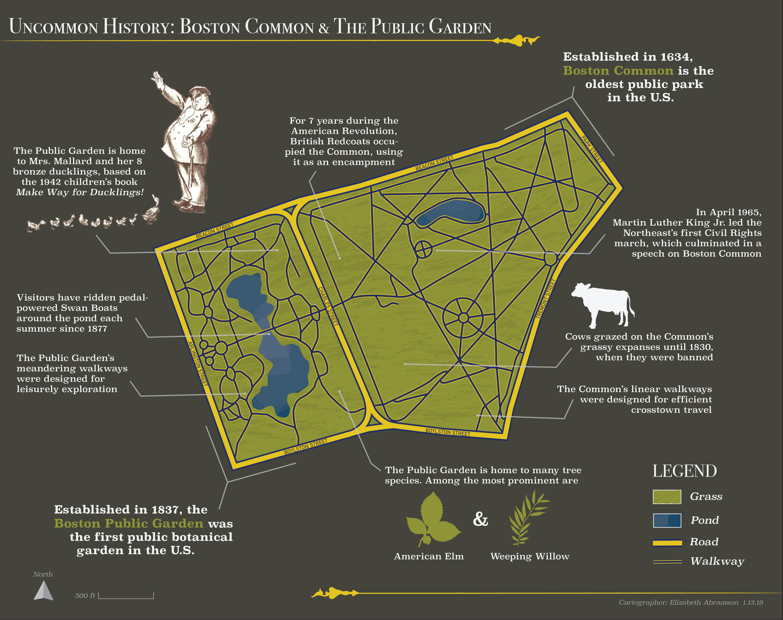 map of boston common park Uncommon History Boston Common The Public Garden map of boston common park